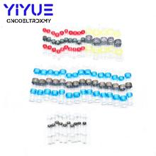 цена на 40Pcs 4 Sizes Practical Electrical Waterproof Seal Heat Shrink Butt Terminals Solder Sleeve Wire Connectors kit