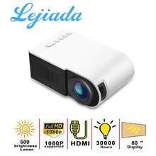 LEJIADA YG210 LED Mini Portable 600 Lumen 3.5mm Audio Support 1080p HD Playback HDMI USB Projector Home Media Player