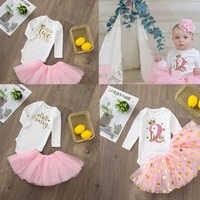 Dos lindos trajes para bebé y niña, tutú rosa, pastel, vestidos infantiles para niña, ropa de fiesta de bautismo sin purpurina