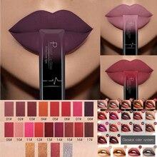 Lip Matte Lipstick Gloss Velvet Lip-Tint Nude Waterproof Women Red 1pc 21-Colors Sexy