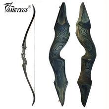 30-60bls 60 Polegada arco recurvo caçador preto lh/rh folha de fibra de vidro processo laminação takedown arco para caça tiro