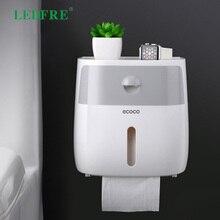 LEDFRE Plastic Toilet Paper Tissue Holder Bathroom Double Wall Mounted Shelf Storage Dispenser Organizer Accessories LF82003