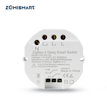 Zemimart Zigbee commutateur SmartThings Tuya Zigbee télécommande lumière Module en ligne Mini...