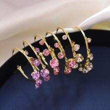Модные серьги с кристаллами для женщин 2020 новые ювелирные