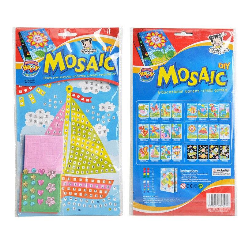 Mosaic Crystle Sticker Handicraft DIY Toy For Kids Children Diamond Painting Kindergarten Educational  Arts Craft Girl Gift 2020