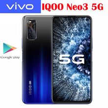 Vivo-teléfono inteligente IQOO Neo 3 5G Original nuevo, Snapdragon 865, Android 10, 6,57 pulgadas, 2400x1080P, 44W, supercargador, 4500Mah, NFC