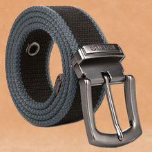 Cinturón de lona táctico militar para hombre, de talla grande, 130, 140, 150, 160cm, hebilla desmontable de Metal, para deportes al aire libre, Vaqueros