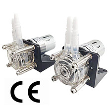 DC 12V/24V large flow peristaltic pump dosing pump anti corrosion for aquarium lab analytical water max flow rate 400ml/min