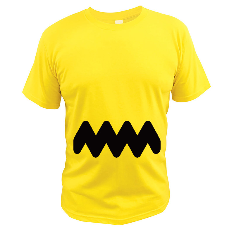 Charlie Brown T Shirt EU Size 100% Cotton Breathable High Quality Crew Neck Tee Shirt Peanuts Tshirt