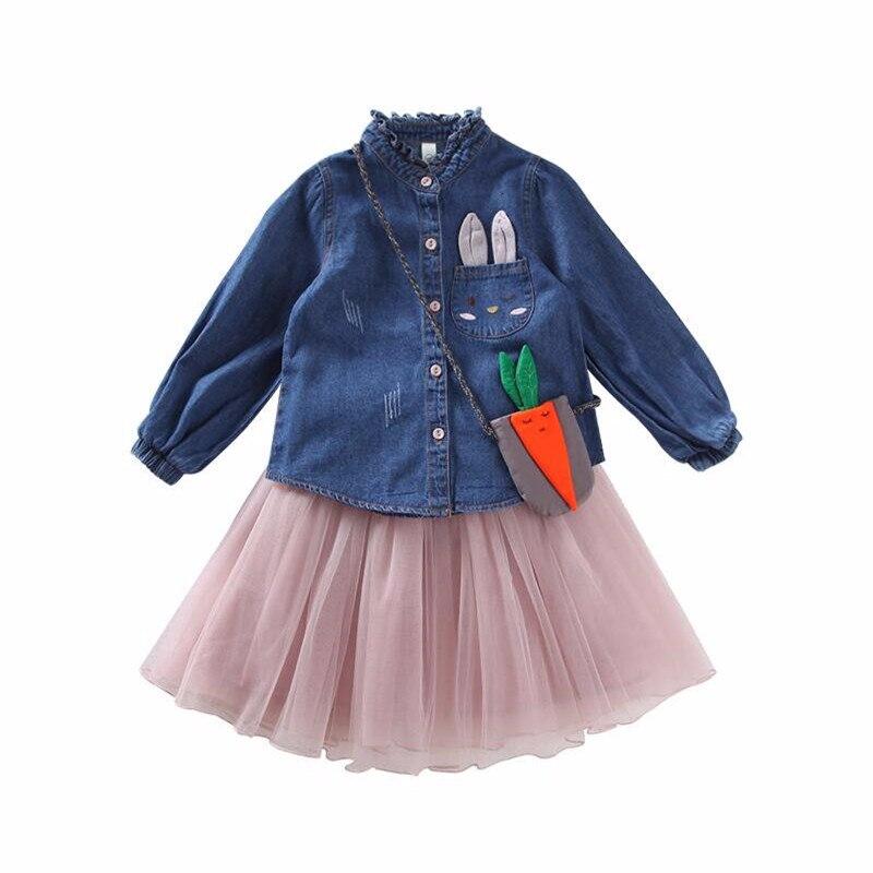 girls slothing sets spring princess costume for girls kids clothes shirt+skirt