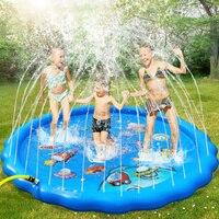 170cm inflável spray de água almofada verão crianças animais de estimação jogar tapete de água gramado jogos almofada sprinkler jogar brinquedos ao ar livre banheira natação piscina