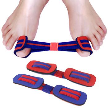 Palucha koślawego paska taśma treningowa kciuk prostowanie Exerciser duży palec Valgus taśma do ćwiczeń pas korygujący Nylon gumką tanie i dobre opinie Other CN (pochodzenie) 1PCS blue elastic band