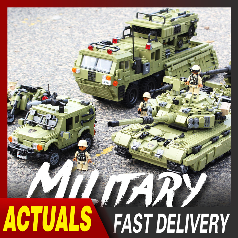 XingBao Military Series Tiger Tank Model Building Blocks Sets Weapon War Chariot Creator Army WW2 Soldiers DIY Bricks Kids Toys