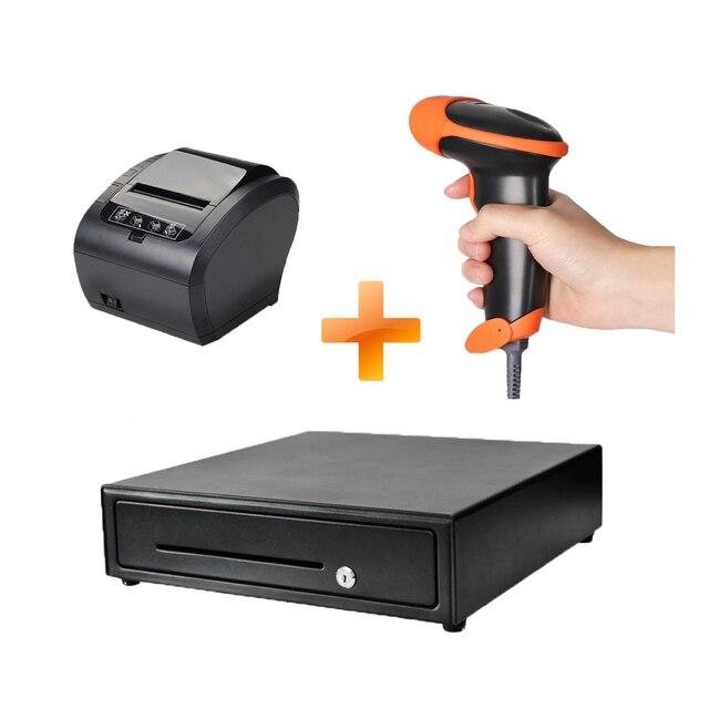 Imprimante/scanner de reçus/tiroir-caisse pour magasins, livraison rapide, 3 lots 1