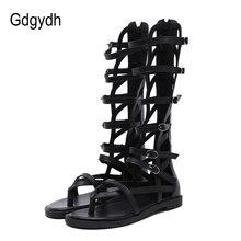 Gdgydh Fashion Buckle Gladiator Sandals Women Flat