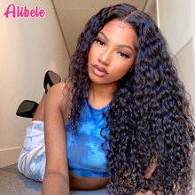 Alibele Malaysian Deep Wave Curly Hair 1 3 4 Bundles Deal Human Hair Weaves Double Weft No Shedding Hair Extension Weaving 100G