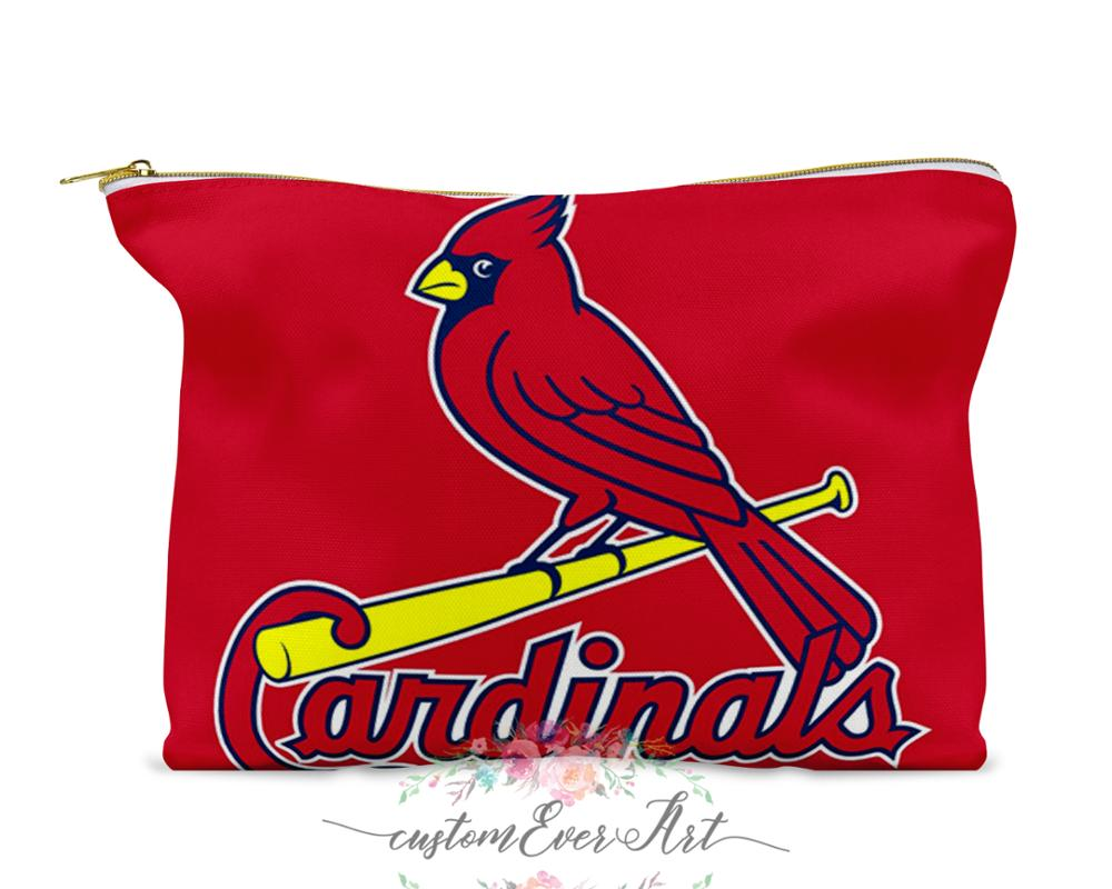 St Louis Cardinals Cosmetic Bag Cosmetic Case Cosmetic Pouch  Makeup Bag Cute Travel Bag For Women Gift