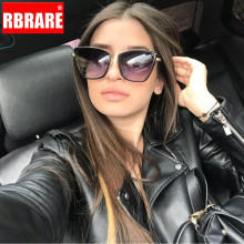 RBRARE Alloy Cat Eye Sunglasses Women Gr