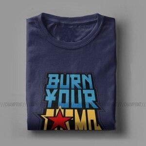 Image 4 - Saint Seiya Brennen Ihre Cosmo T Shirt Männer Ritter von die Sternzeichen Anime Lustige Baumwolle T Shirt Crew Neck T Shirts gedruckt Kleidung