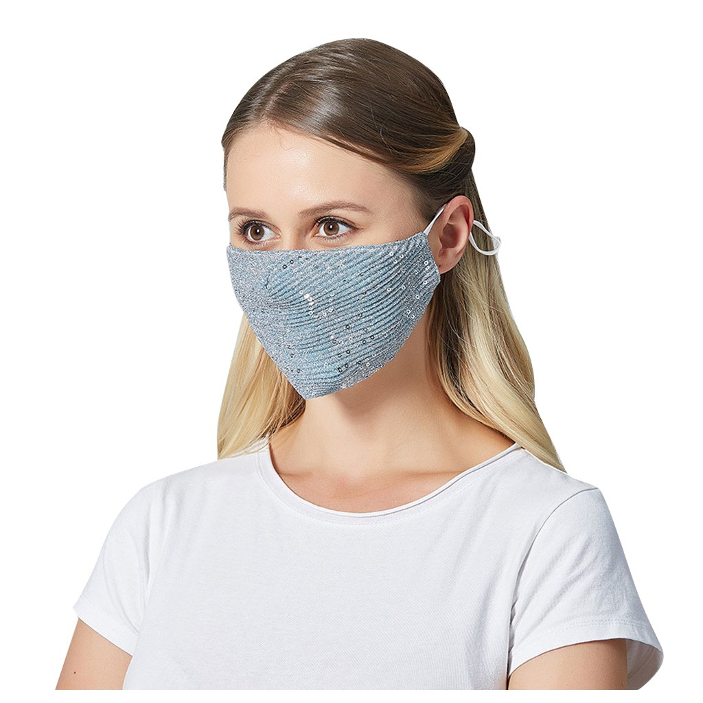 Sequin Dust Anti Pollution Respirator Pm2.5 Dustproof Safety Maske Washable Face Maskswashable And Reusable Facemask Maske