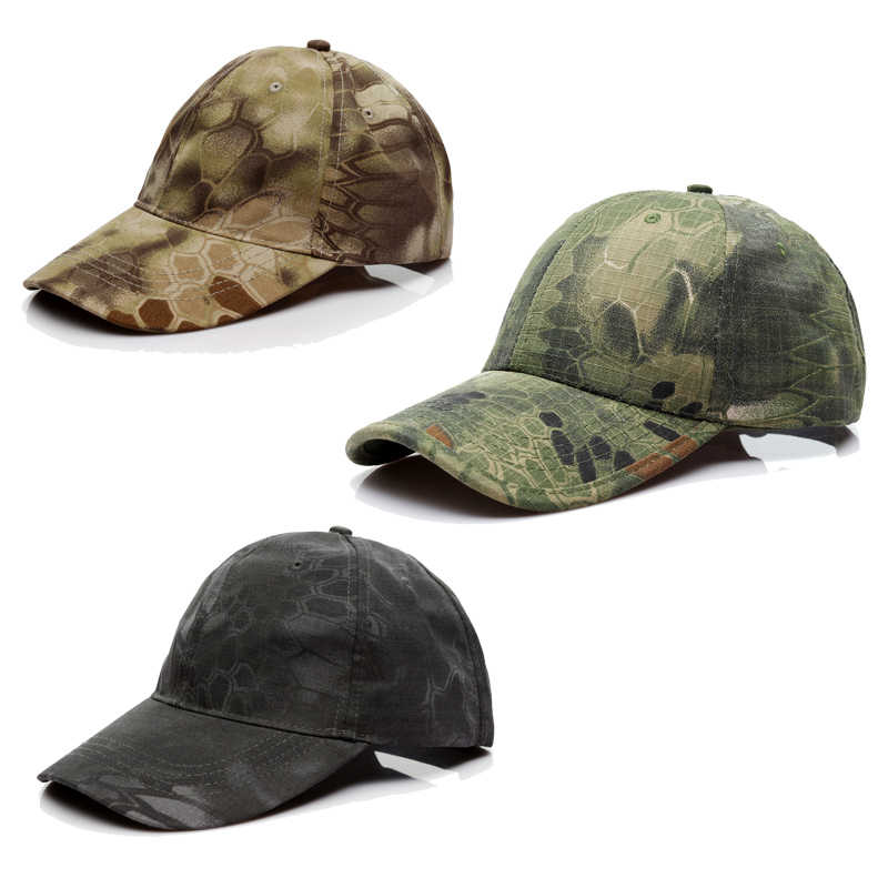 Breathable Military Camouflage Baseball Peaked Cap Sun Hat Tactical Army Jungle