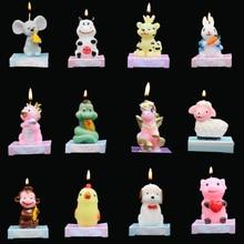 Cake Candle Animals-Shape Birthday Smokeless Celebration Shower Wedding Party Baby Cartoon