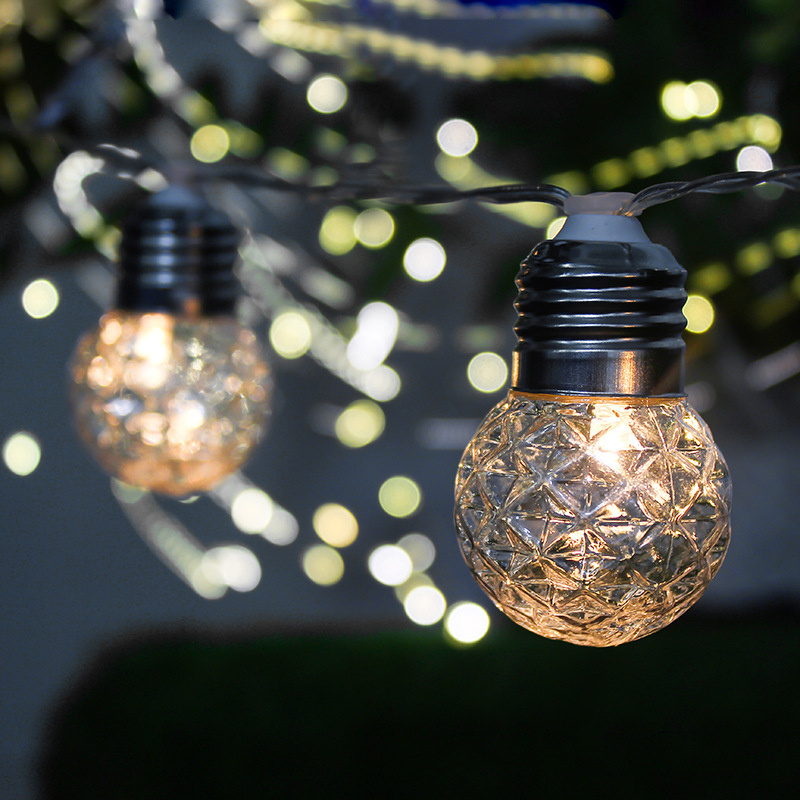 Solar LED String Fairy Lights 6M 20LED Bulb Outdoor Waterproof Garland Courtyard Garden Decoration Christmas Holiday Lighting