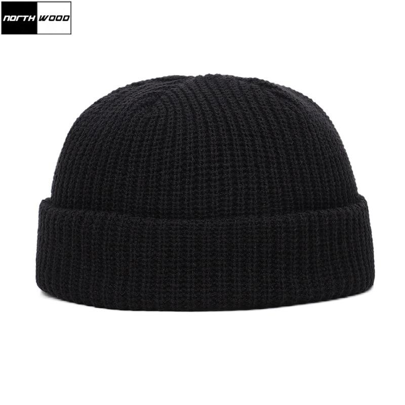 [NORTHWOOD] New Fashion Solid Men Hat Watermelon Hip Hop Knitted Cap Winter Beanie Women's Hat Balaclava Warm Winter Hats