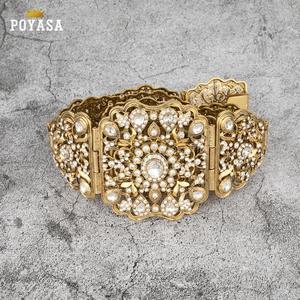 Image 5 - Culotte marocaine Caftan, livraison gratuite, ceinture en métal doré et argenté pour femme