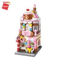 C0101 꿀 달콤한 디저트 하우스 빌딩 블록 girls'toys 어린이 선물 지능형 장난감
