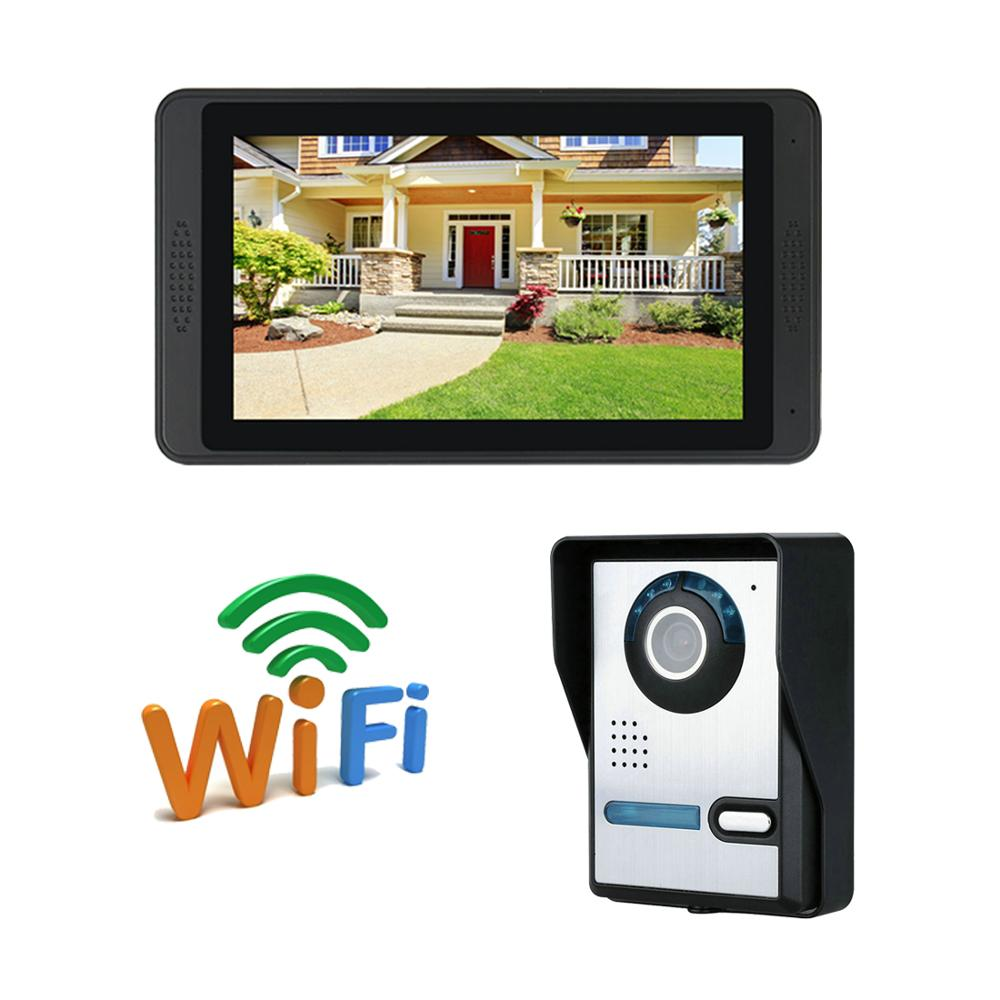 WIFI IP camera video doorbell intercom 7 inch monitor remote control unlock