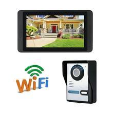 WIFI IP camera video doorbell intercom 7 inch monitor remote control unlock 7 inch wireless wired wifi ip video door phone doorbell intercom entry system hd camera remote unlock