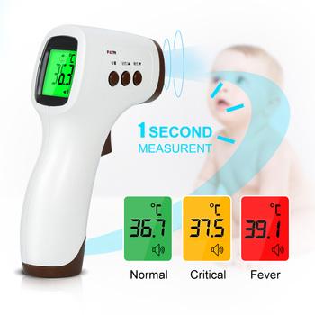Cyfrowy termometr na podczerwień bezdotykowy medyczny termometr na czoło dziecko dorosły Monitor temperatury gospodarstwa domowego tanie i dobre opinie LIERDOCT CHINA TERMOMETRY Digital infrared thermometer Non-contact Body Temperature Meter LCD 3 Colors Backlight Medical