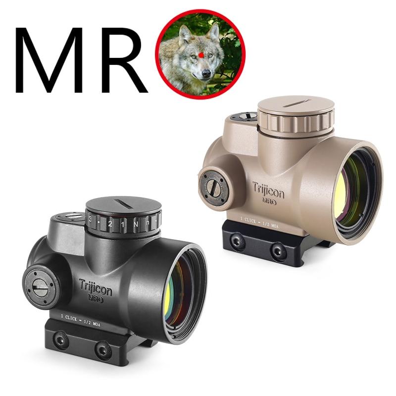 Trijicon MRO holographique point rouge portée de visée lunette de chasse illuminé Sniper équipement pour portée de fusil tactique Caza