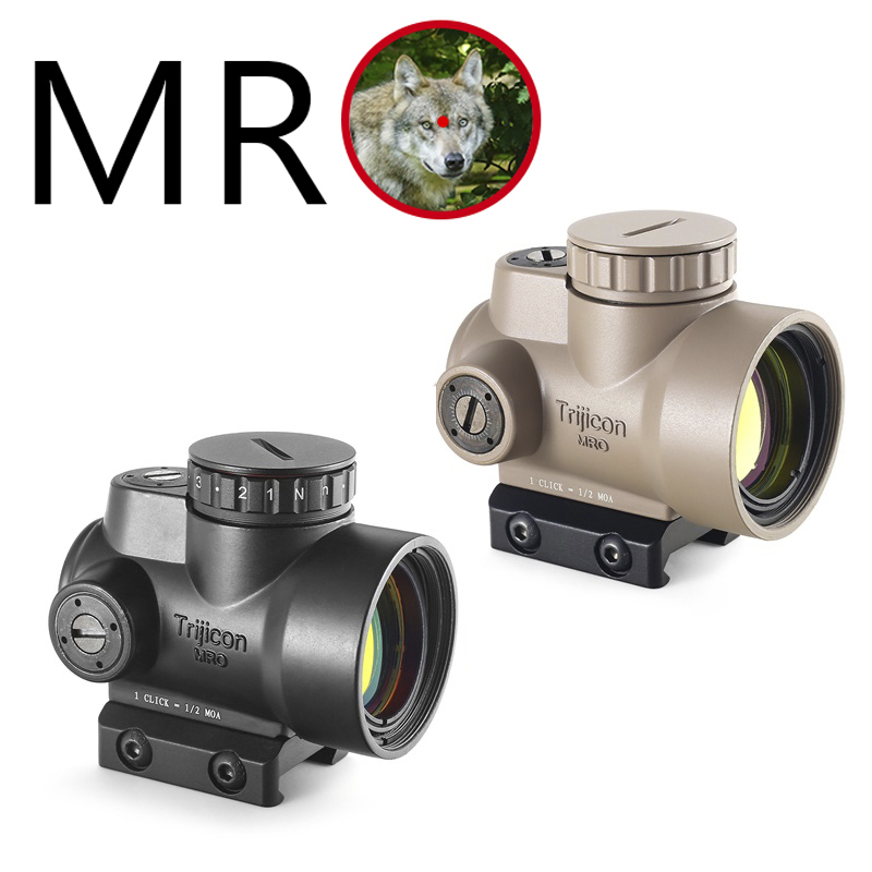 MRO Holographic Red Dot Sight Scope Hunting Riflescope Illuminated Sniper Gear For Tactical Rifle Scope Caza