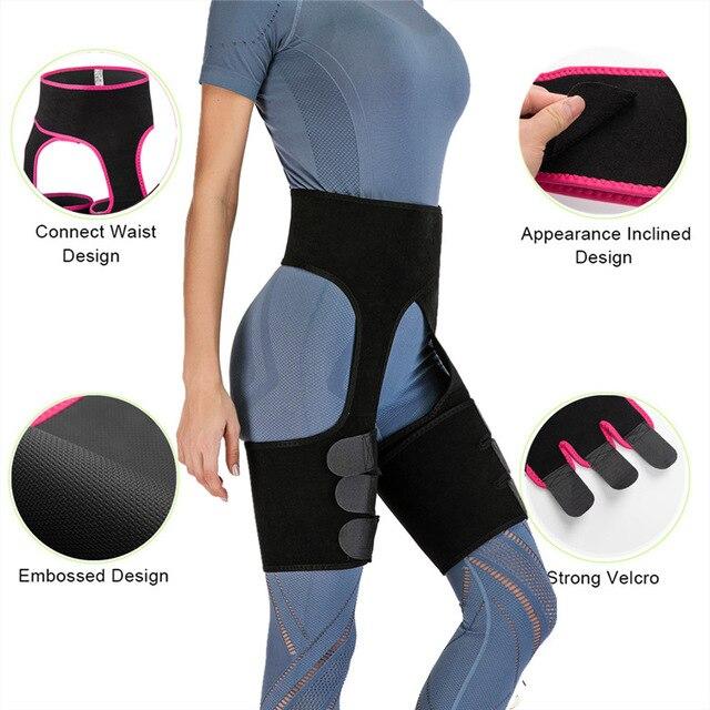 Waist Support Neoprene Slim Thigh Trimmer Leg Shapers Slimming Belt Waist Trainer Sweat Shapewear Fat Burning Compress Belt 5