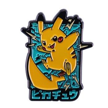 Linda insignia de dibujos animados, colección de gran pin