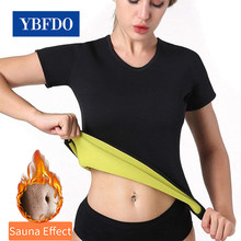 Ybfdo mulheres neoprene shaperwear cintura traine sauna suor colete corpo plus size S-5XL shaper cincher espartilho t-shirts emagrecimento