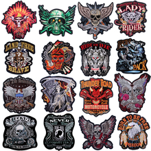 Pulaqi New biker patches for clothes iron on patches embroidery Sticker  stripe patches for clothing punk patch wholesale H genc riders turkiye custom motorcycle biker vest patch punk iron on embroidery patches free shipping