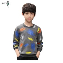 T-Shirt Sweater Clothing Long-Sleeve Children's Pullovers Knit Kids Cotton Fall O-Neck
