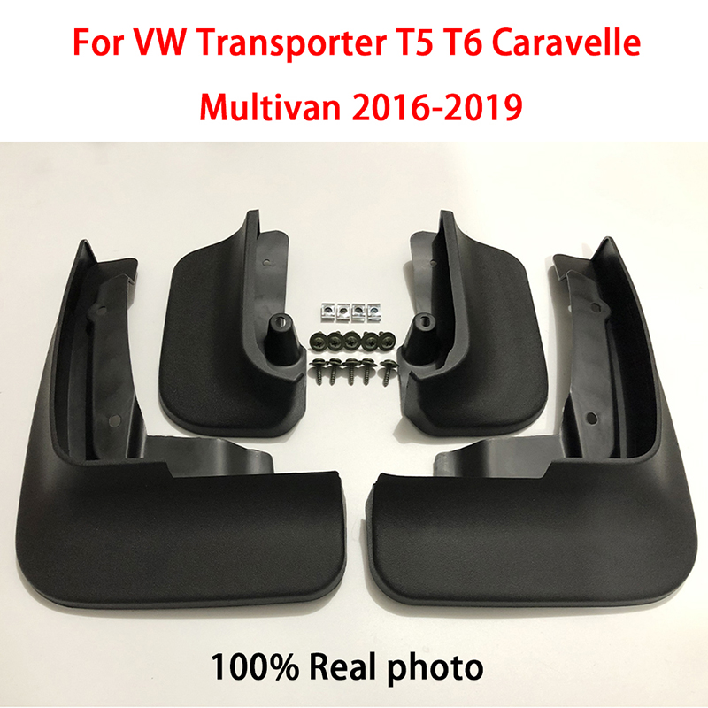 SPEWPRP <font><b>Mudflap</b></font> For Volkswagen <font><b>VW</b></font> Transporter T5 T6 Caravelle Multivan 2016-2019 Car Fender Mud Guard Splash Flaps Mudguards image