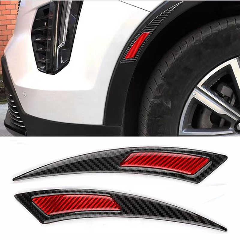 Carbon fiber warning stickers car bumper fender engine reflective stickers