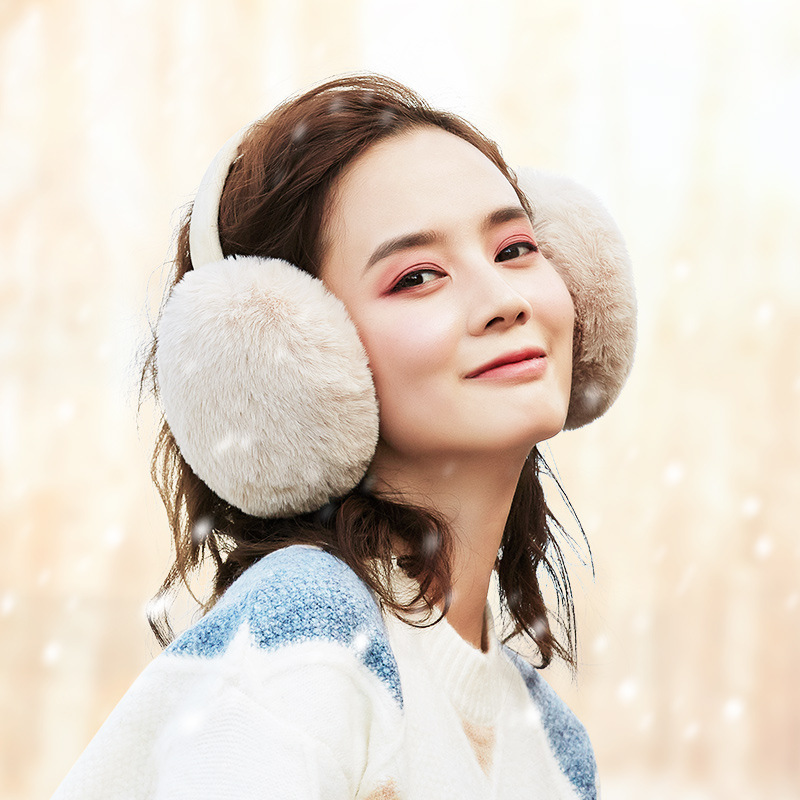 Detachable Fur Earmuffs For Men And Women Winter Accessories Ear Warmer Wrap Earmuff Windproof Ear Muff Hair Band Plush Earmuffs