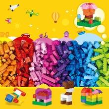1000pcs City Building Blocks Bulk DIY Creative Bricks Friends Classic Creator Parts Brinquedos Educational Toys Children Duplo