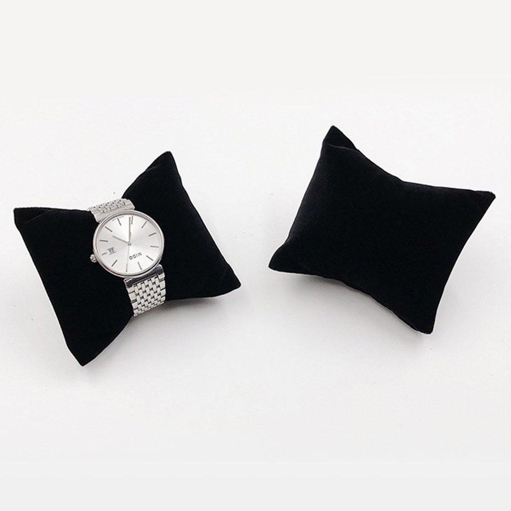 Velvet Jewelry Display Pillow 8x7cm Mini Cushion Holder For Precious Watches