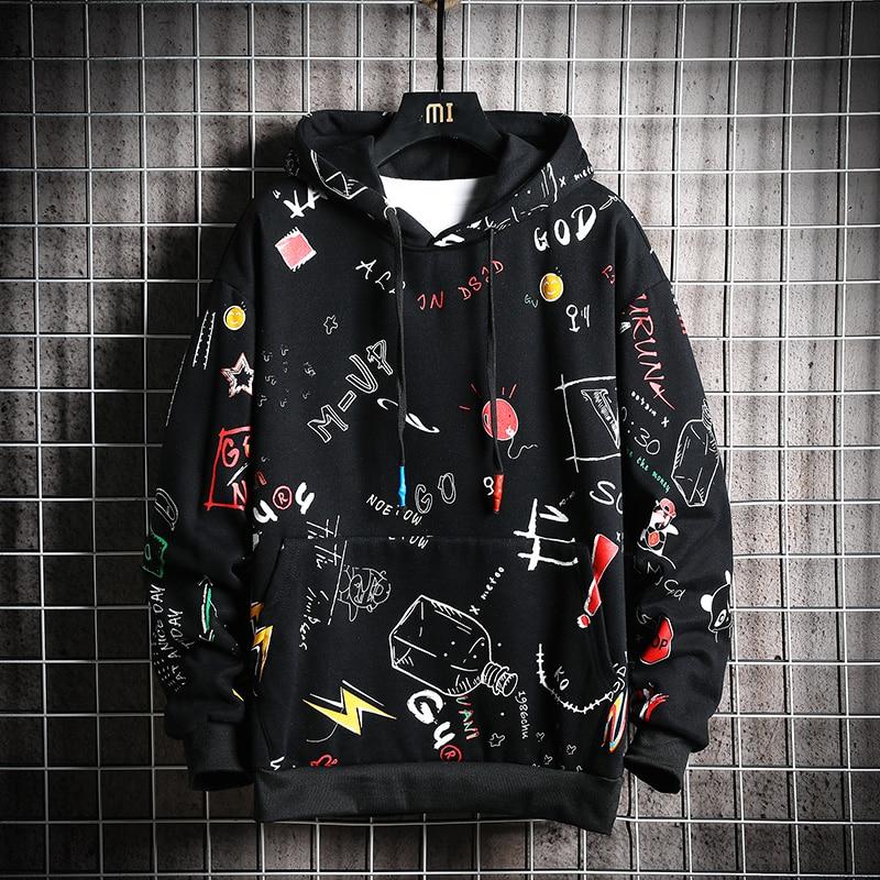 Anime Men hoodie Print Long Sleeves hoodies Brand Pullovers Casual Tracksuits
