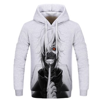 2020 new 3D Print Sweatshirt Men/Women Fashion Funny Hoodie Anime Tokyo Ghoul Kaneki Ken Hoodies winter Streetwear Clothes недорого