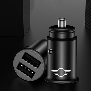 USB Car Charger 4.8A Mini Car Phone Charger Adapter in Car For mini Cooper car charger FOR Samsung Xiaomi Redmi iPhone HUAWEI