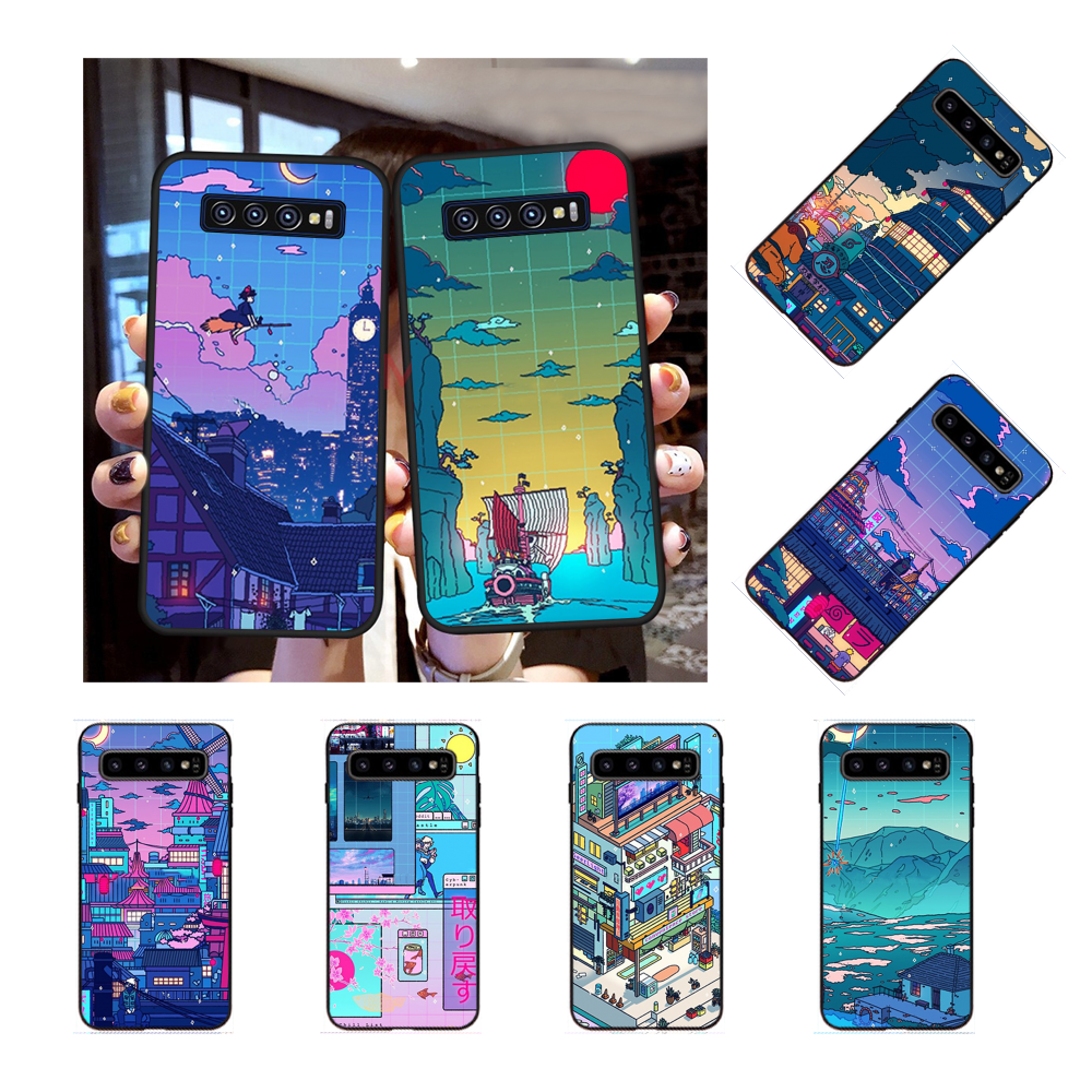 NBDRUICAI Cyberpunk Konoha Cover Black Soft Shell Phone Case for Samsung S9 plus S5 S6 edge plus S7 edge S8 plus S10 E S10 plus(China)