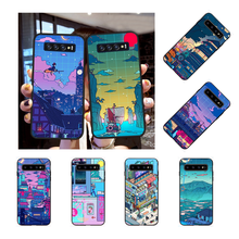 NBDRUICAI Cyberpunk Konoha Cover Black Soft Shell Phone Case for Samsung S9 plus S5 S6 edge plus S7 edge S8 plus S10 E S10 plus(China)